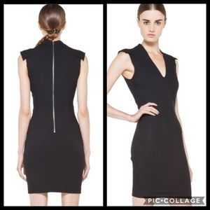 Helmut Lang Little Black Dress Wool Cocktail